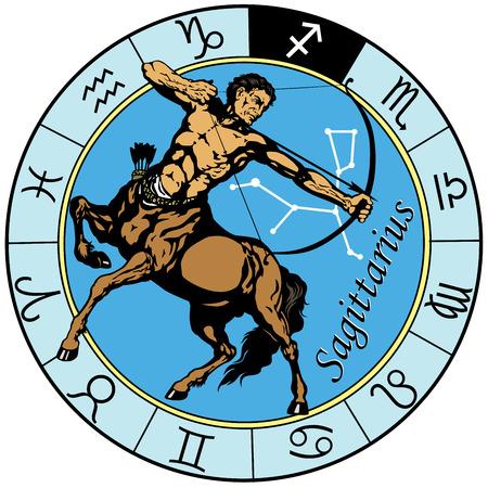 sagittarius the centaur archer, astrological zodiac sign