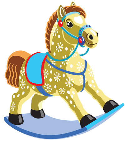rocking horse: rocking horse toy , isolated image for little kids Illustration