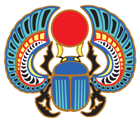 Egyptian scarab beetle. Sacked bug a symbol of the sun in the ancient Egypt