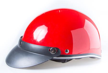 casco rojo: un casco rojo