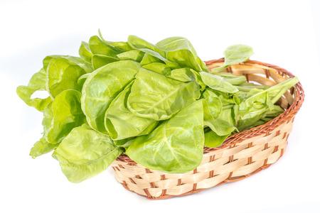 remolacha: jardín de remolacha (remolacha) en una cesta sobre fondo blanco