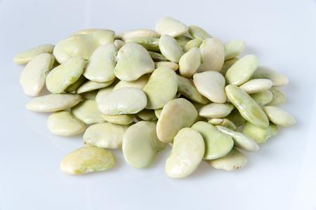 Lima bean isolated on white background