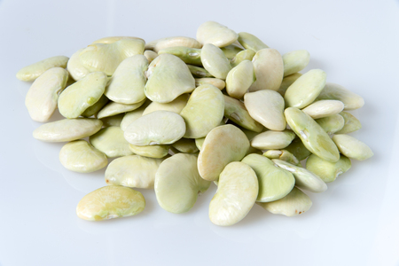 Lima bean isolated on white background