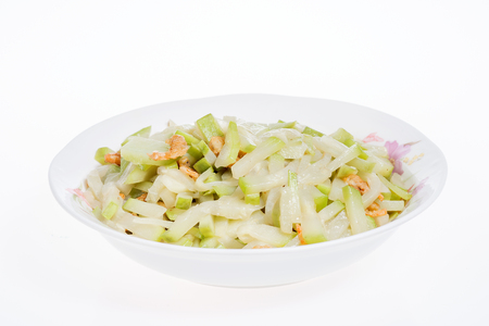 perishable: fried lagenaria sicerariae (bottle gourd) Stock Photo