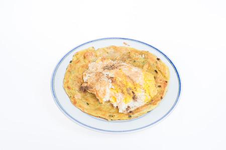 pancake week: Flaky scallion pancake with egg - pancake
