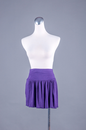 habiliment: Womens beautiful skirt on mannequin on white background