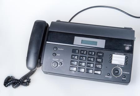 fax machine: fax machine isolated on white background Stock Photo