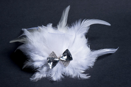 hairstyling: Hair Accessories on black background Stock Photo