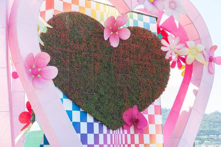 debutante: Love shape garden