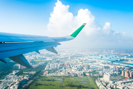 14: Taiwan - July 14 2016: Airfoil of Eva Airways is flying on the sky