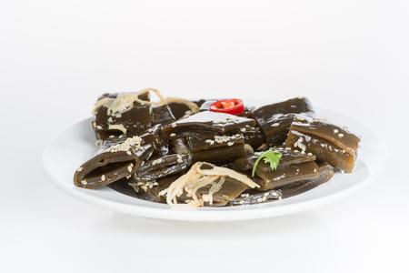 alga marina: algas marinas aisladas sobre fondo blanco