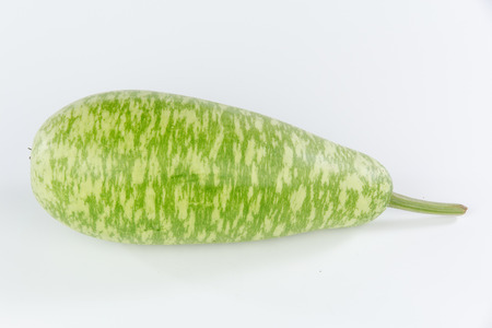 white flowered gourd isolated on white background