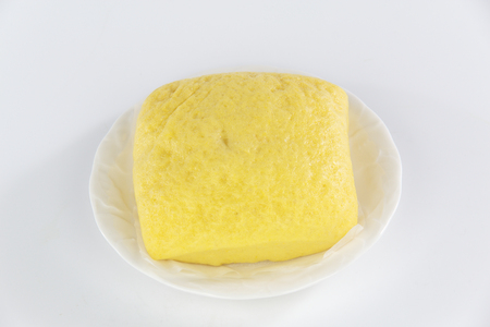 steamed bread on white plate