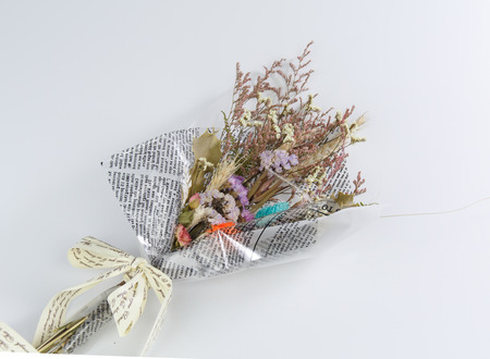 dried flowers isolated on white background Stock Photo