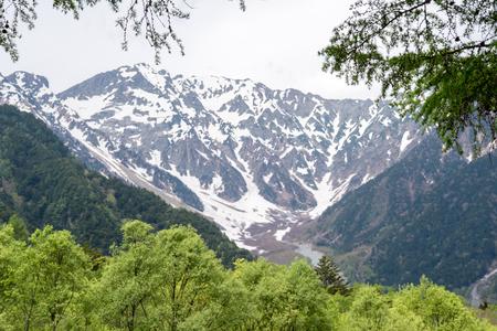 The spring season of kamikochi, in Hotaka Ranges, Kamikochi, Japan