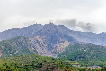 Kagoshima, Japan with Sakurajima Volcano Stock Photo
