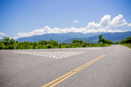 Trees and roads in Chishang, Taitung, Taiwan