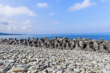 Taitung, taiwan Nearby scenery Sansiantai with Tetrapods