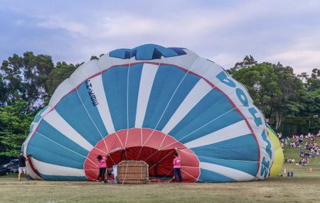 Taitung, Taiwan - August 3, 2015: Taiwan international balloon festival in Luye Gaotai, Taitung Editorial