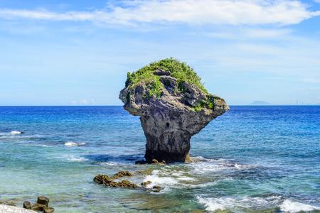 Landscape of Little Liuqiu, vase rock in Liuqiu island, Pingtung, Taiwan.