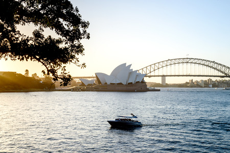 SYDNEY - October 12: Sydney Opera House view on October 12, 2017 in Sydney, Australia. The Sydney Opera House is a famous arts center. It was designed by Danish architect Jorn Utzon, finally opening in 1973.