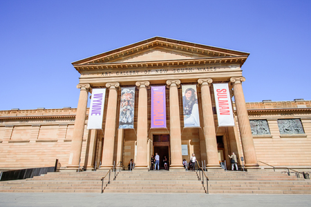 SYDNEY - October 12: Art Gallery of New South Wales is the leading museum of art in New South Wales and Sydney, established in 1871, October 12, 2017 in Sydney, Australia. Редакционное