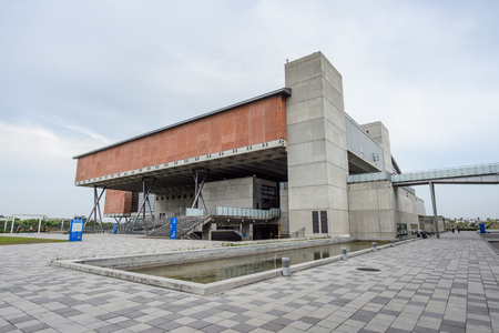 Tainan, Taiwan - November 24,2017: exhibition and education building in national museum of taiwan history