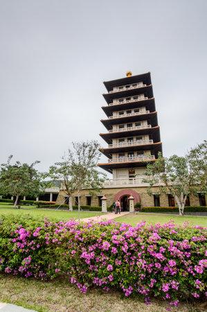 Kaohsiung, Taiwan - December 1,2017: eightfold path pagoda in Fo Guang Shan Buddha Museum