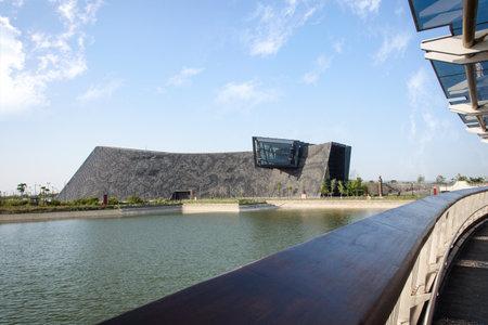 Taibao, Chiayi, Taiwan - vrijdag 23 maart 2018: zuidelijke tak van het National Palace Museum: het museum richt zich op kunstwerken van China, Perzië en India. Deze nieuwe vestiging is geopend op 28 december 2015