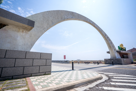 Penghu ,Taiwan - May 16, 2018: The inter-island bridge of the Penghu Archipelago