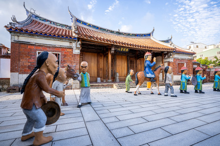 Kaohsiung, Taiwan-september 4,2018: Fongyi Academy is located at the east side of the Cheng-huang Temple on Fong-ming street, Fong-Shan District Archivio Fotografico - 115286276