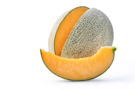 tasty rock cantaloup melon isolated on white background