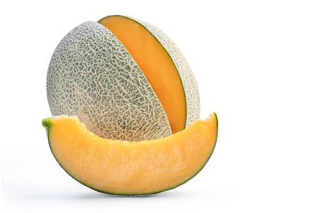 tasty rock cantaloup melon isolated on white background