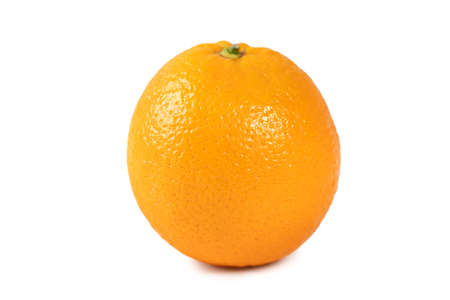 Beautiful common orange isolated on white background, clipping path, cut out, close up. Imagens