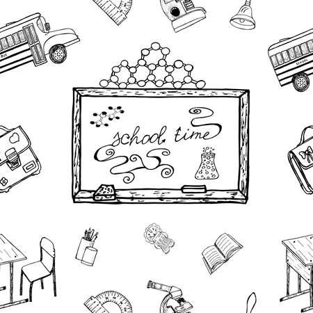 Projet d'éléments, des signes, des symboles sur l'apprentissage.