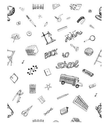 Hand Drawn fond. Idéal Qualité Sketch Dessin seamless pour Scolarisation design.