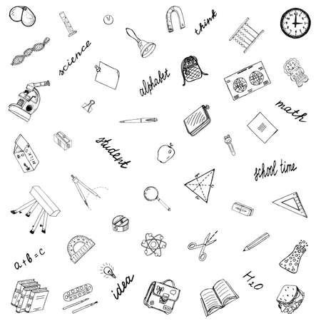bureta: Ilustración del bosquejo. Doodles Vector.