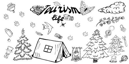 elation: Doodles Vector. Hand Drawn elements for travelling.
