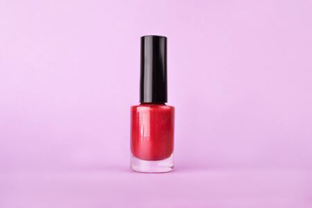 Perfect bright sparkling colorful nail polish enamel