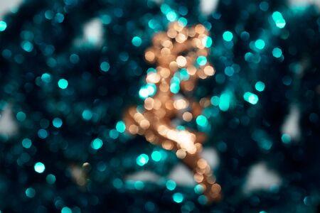 Colorful lights festive bokeh, defocused festive background