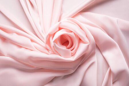 Silky light rose wavy background, romantic concept