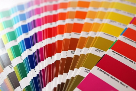 pantone: Color guide: pantone colours Stock Photo