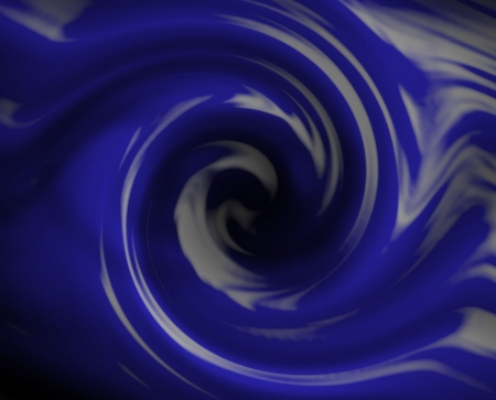 Blue fluid swirl. Liquid into a drain.