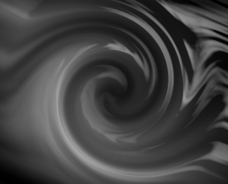 Black and white fluid swirl. Liquid into a drain.