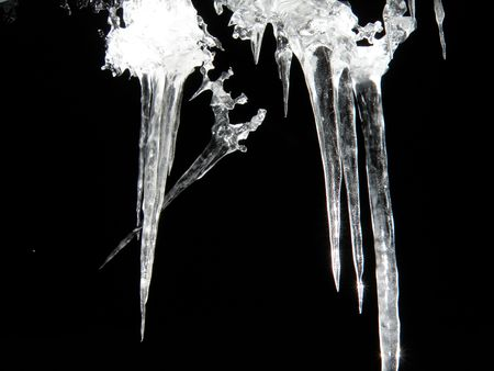 Ice cycle formation. Stock Photo - 6484137