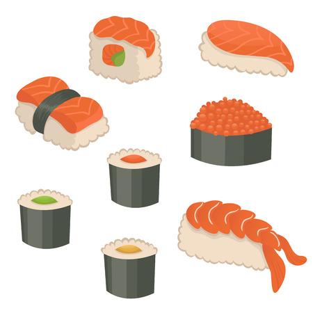 Cute sushi set
