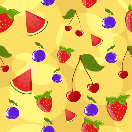 Seamless berries background Vector