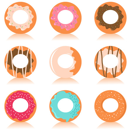 Set of cute donuts Stock Vector - 5462320