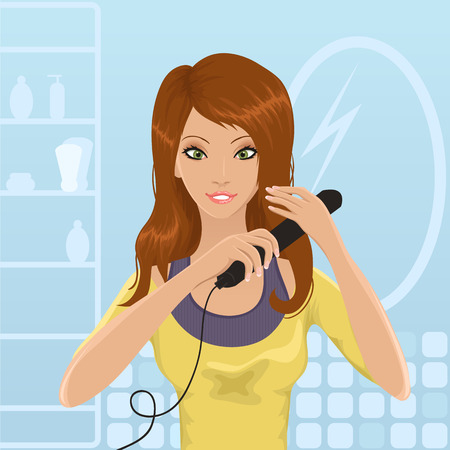 styling: Hair straightening Illustration