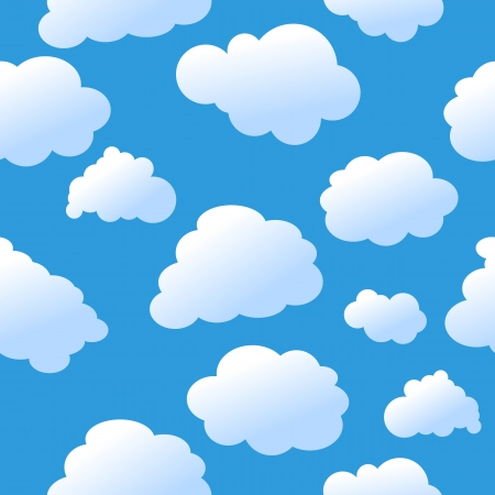 cloudy cartoon: Seamless clouds Illustration